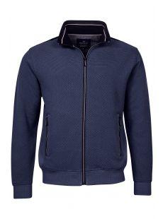 Baileys Structured Full Zip Navy Sweater