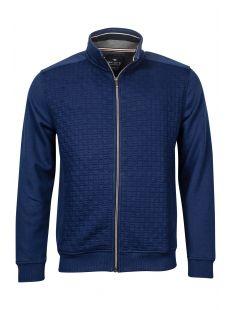Baileys Structured Blue Full Zip Sweater