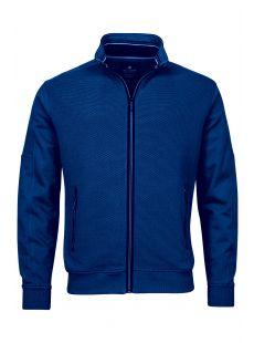 Baileys Two Tone Full Zip Blue Sweater