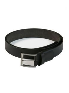 C.O.C Black Leather Stretch Belt