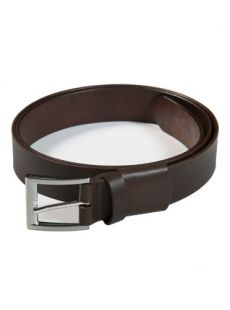 C.O.C Brown Leather Stretch Belt