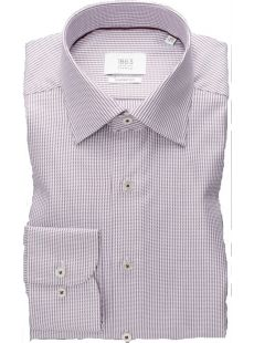Eterna White W/ Lilac Pattern Shirt