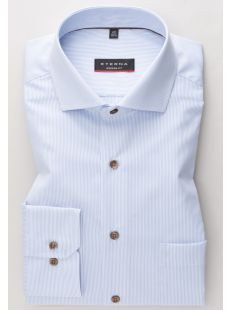 Eterna Sky Blue Stripe Shirt