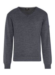 Hajo Merino Wool Charcoal V-Neck Jumper