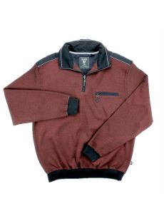 Hajo Wine Quarter Zip Sweatshirt