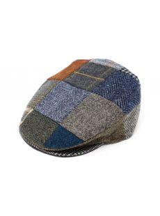 Hanna Hats Vintage Patchwork Tweed Cap