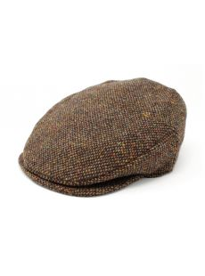 Hanna Hats Brown Tweed Cap Hat