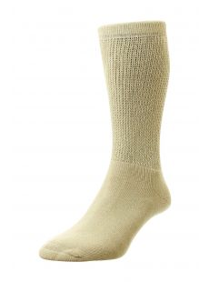 H.J. Hall Diabetic Beige Sock