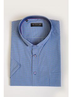 Mc Ivor Liam Blue Check Shirt