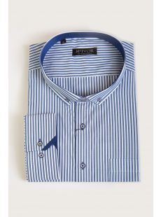 Mcivor Mcbride Blue Stripe Shirt