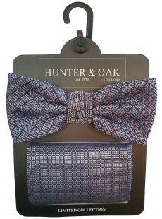 Hunter & Oak Pink Pattern Bow Tie