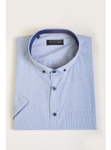 Mc Ivor Sam Sky Blue Check Shirt