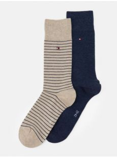 Tommy Hilfiger 2-Pack Beige & Navy Socks