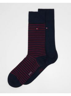Tommy Hilfiger 2-Pack Red & Navy Sock