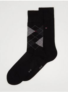 Tommy Hilfiger 2-Pack Black Check Socks
