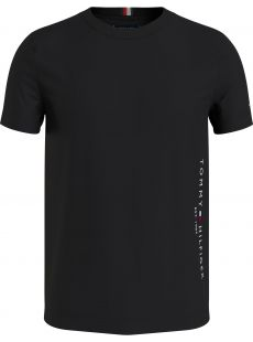 Tommy Hilfiger Side Flag Logo Black Tee