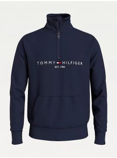 Tommy Hilfiger Navy Logo Quarter Zip
